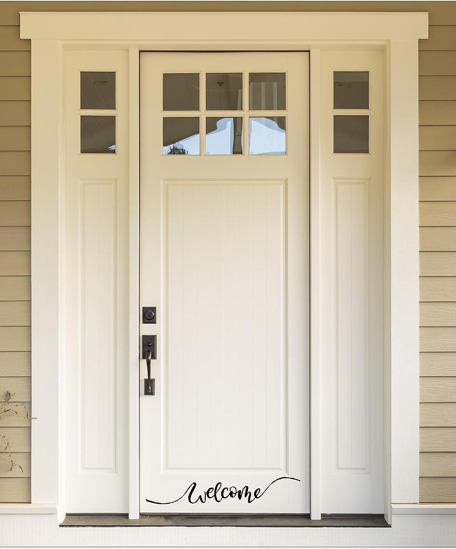Welcome Vinyl Wall Decal Front DoorBack Door Vinyl Lettering for the home