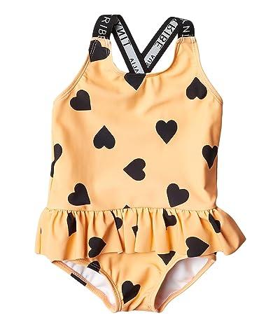 TINY TRIBE Heart Cross-Back Frilly Tank (Infant) (Peach) Girl