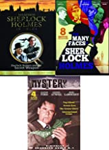 Fiction sleuthing Mystery Murder Sherlock Holmes Baskervilles / Sign Four / Dressed to Kill / Terror by Night Many Faces + Secret Weapon + Classics Glenn Ford Fog Island Green Eyes International Crime