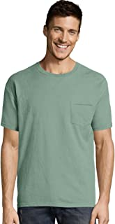 Hanes ComfortWash Garment Dyed Short Sleeve T-Shirt with a Pocket - GDH150 Cypress Green