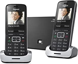 Gigaset SL450A GO Twin DECT Telephone with Intergrated Answering Machine - Silver/Black