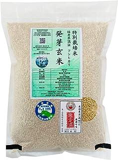発芽玄米 無農薬・無化学肥料栽培 無農薬コシヒカリ「特選」限定米 2kg 令和2年産 真空パック 米・食味鑑定士認定米