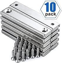 Neodymium Rectangular Pot Magnet with Countersunk Hole and Matching Screws - 60x13.5x5mm, 10 Packs