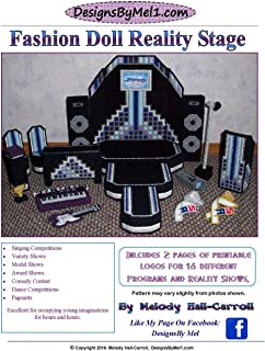 Fashion Doll Reality Stage: Fashion Doll Reality State in Plastic Canvas (Designs By Mel in Plastic Canvas)
