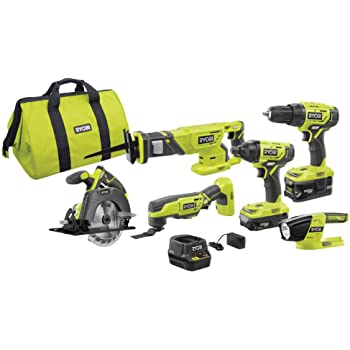 Ryobi Cordless Rotary Tool Kit ONE 18-Volt Lithium-Ion Battery Charger Pack Set