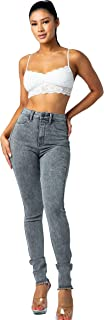 Aphrodite High Waisted Jeans for Women - High Rise Waist Skinny Womens Jeans with Faux Front Pockets