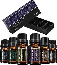 VicTsing Essential oils, TOP 6 Pure Aromatherapy Oils Set, Essential Fragrance Oil Set for Women, Men, Diffuser, Humidifier(Orange, Lavender, Tea Tree, Lemongrass, Eucalyptus, Peppermint, 10ml/bottle)