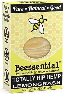 Beessential Totally Hip Hemp Soap, Lemongrass, 5 Ounce
