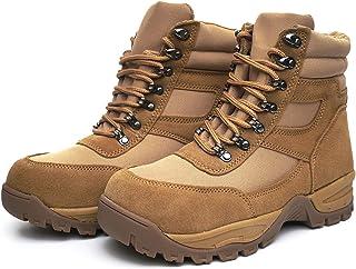 "DRKA Men's 6"" Steel Toe Work Boots,Electric Hazard Military Tactical Boots"