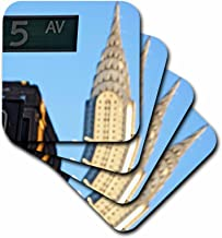 3dRose LLC The Chrysler Building is an Art Deco Skyscraper in New York City, Located on The East Street Coaster, Soft, Set of 4