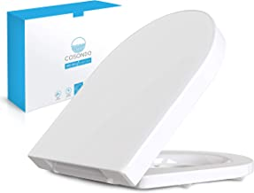WC-bril Softclose Sluitmechanisme D-vorm Duroplast - Afneembare antibacteriële Toiletbril WC-deksel Toiletdeksel   RVS Sch...