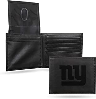 NFL Rico Industries Laser Engraved Billfold Wallet, New York Giants