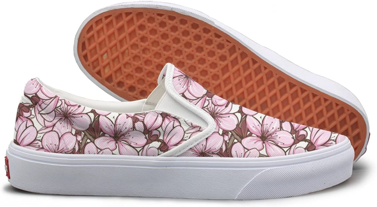 Casual Cherry Blossom Sakura Figure Woman Canvas Sneakers shoes
