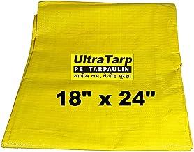 ULTRATARP Plastic Tarpaulin Virgin UV Treated 150 GSM (Yellow, 18 x 24 ft)