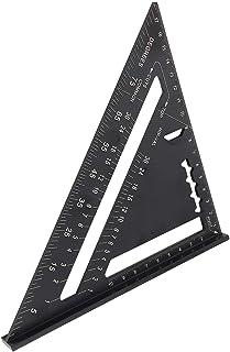 三角定規ルーラー 7インチ 三角スクエアルーラー アルミニウム合金 黒酸化ルーフィング三角アングル分度器 コンビネーションスクエア 90度45度 精密測定ツール クリアスケール 読みやすい 木工用 262 x 185 x 185mm(公制)