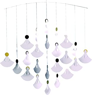 Flensted Mobiles Angel Chorus (25 Angels) Hanging Mobile - 22 Inches Cardboard