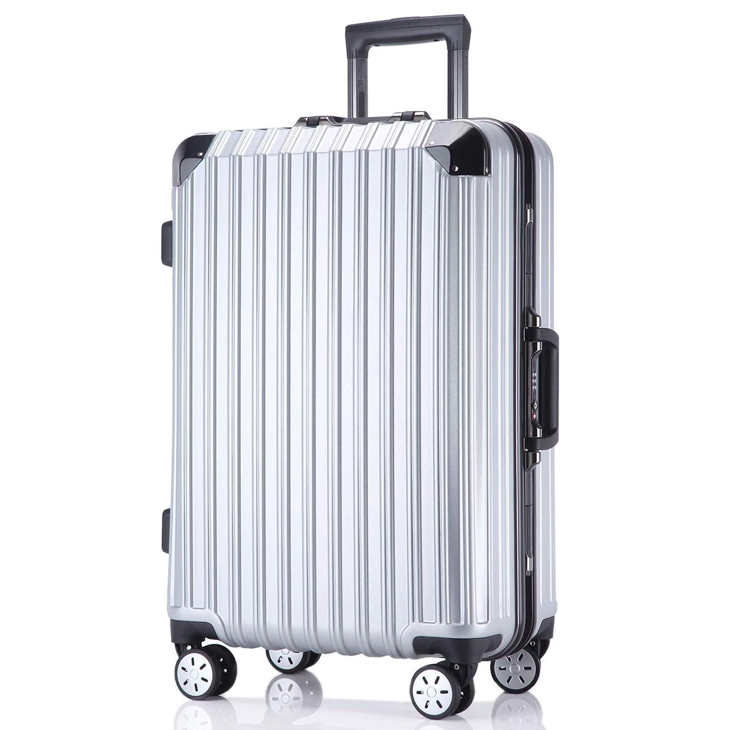 横たわる復活する感情レーズ(Reezu) スーツケース 軽量 キャリーバッグ アルミフレーム キャリーケース TSAロック付 8輪 アルミ合金製 耐衝撃 旅行出張 1年保証