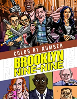 """Brooklyn 99 Color By Number: Favorite Police Sitcom TV Series Character Color Number Book for Adults Creativity Gift, 8.5""""..."""