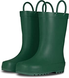 Elementary Collection - Premium Natural Rubber Rain Boots with Satin Finish for Toddlers and Kids