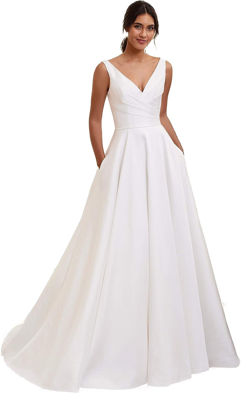 Free Shipping New YMSHA Women's Beach Wedding Dresses for New sales Long Lac Boho 2021 Bride