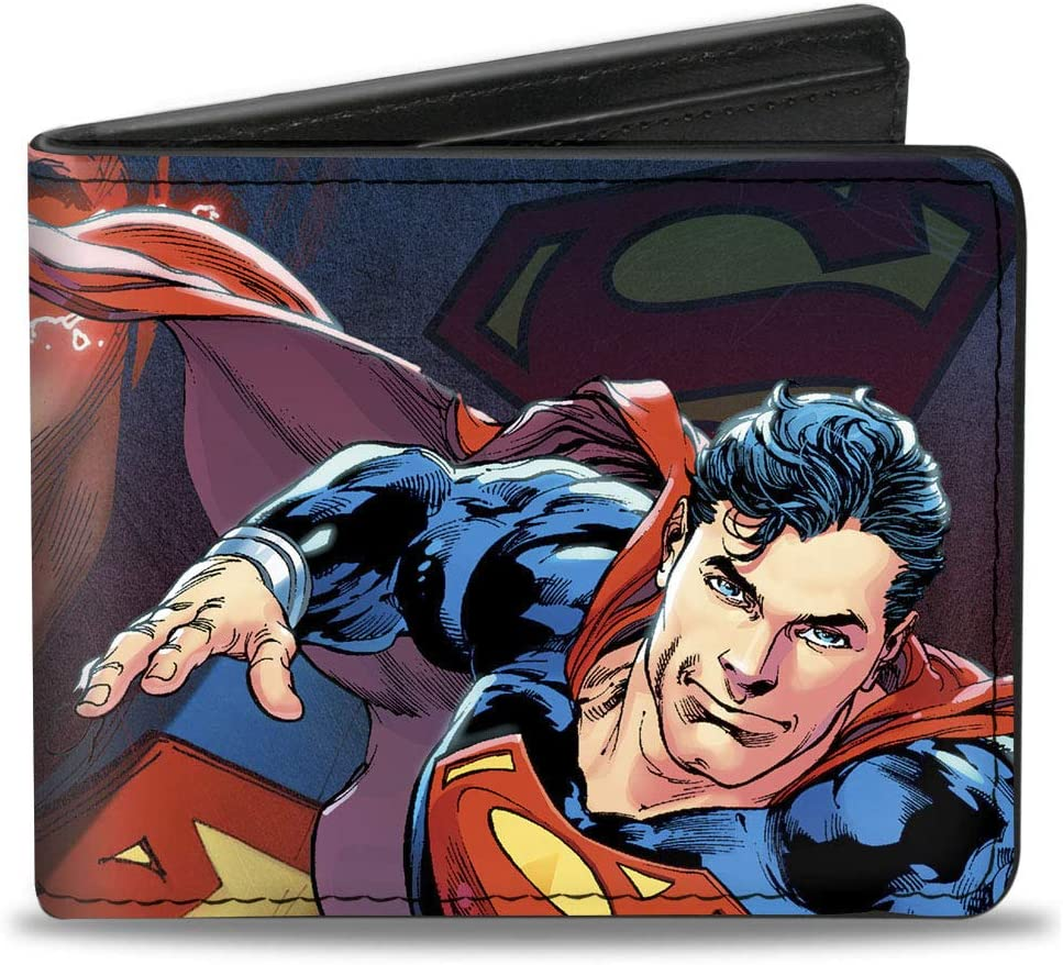 Buckle-Down mens Buckle-down Bifold Superman Wallet Year-end discount gift 4