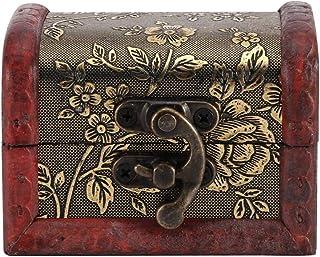صناديق هدايا خشبية متينة خمر نمط صندوق تخزين خشبي، صندوق خشبي، صندوق أدوات خشبي صندوق الحلي للمجوهرات ورقة الحلوى