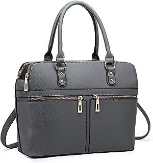 Miss Lulu Women Laptop Handbag Ladies Fashion Shoulder Bag Female PU Leather Large Tote Girls Cross Body Messenger Satchel