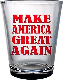 Alankathy Mugs Donald Trump Make America Great Again Shot Glass 1.75 oz clear (2)
