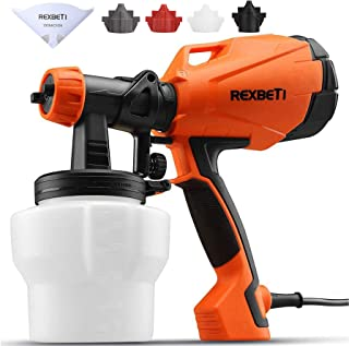 REXBETI Ultimate-750 Paint Sprayer, High Power HVLP Home Electric Spray Gun, Lightweight, Easy Spraying and Cleaning, 5-pc...