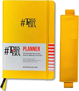 $24 » This is My Era 90 Day Planner Undated & Elastic Band Pen Holder (Yellow, 1 Goal Planner + 1 Pencil Holder)