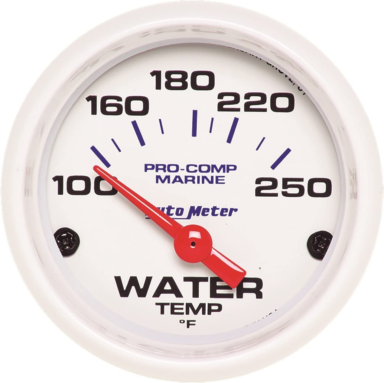 AUTO METER 200762 Gauge Water Max 57% OFF Temp Marine White NEW before selling 1 16
