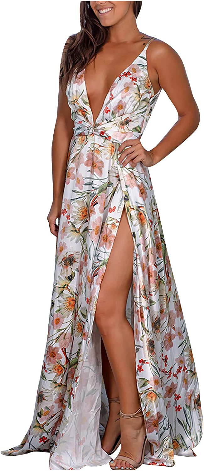 Summer Dresses for Women Brand new V-Neck Condole Max 50% OFF One-Piece Printing