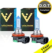 Voltage Automotive H11 Headlight Bulb Polarize White Replacement (Pair) - Professional Upgrade Head Light Bulb