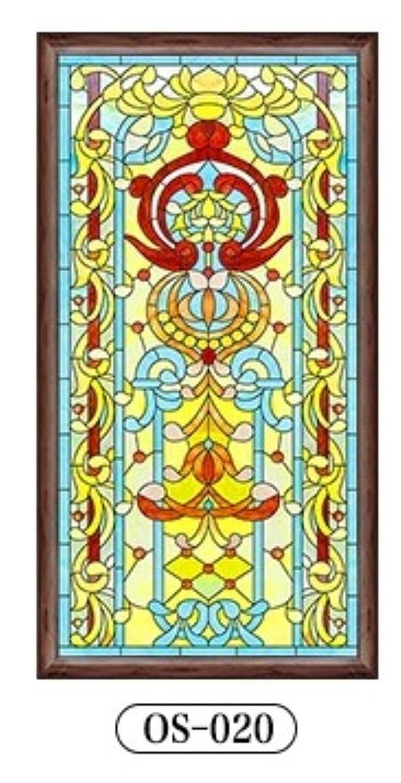 日付ヨーグルトレンジClaresnce 自己粘着 プライバシーガラスウィンドウフィルム カスタムサイズ ヨーロピアンスタイル 窓 静電気 ステンドグラス 窓用フィルム つや消しホームドア フォイルステッカー 17.7 x 78.7インチ 17.7