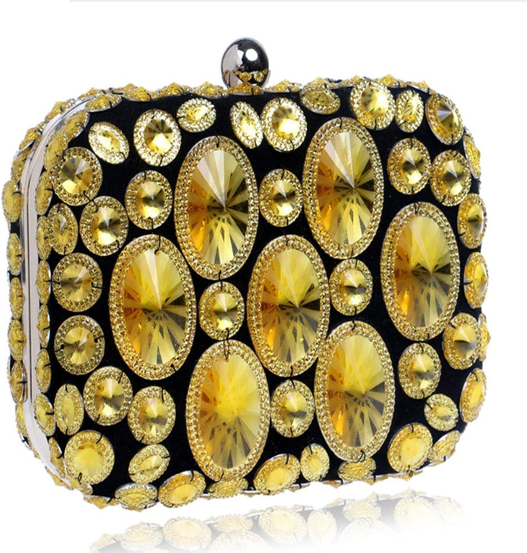 LHJ Damen Damen Damen Umhängetasche Europa Und Amerika Diamant Dinner Bag Fashion Party Kleid Abend Harz Diamant Tote Lila Blau Farbe Gold B07JD5SG27  Natürlicher Stoff 6a6409