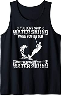 Water Skiing Shirt You Dont Stop Water Skier Old Tank Top