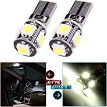cciyu T10 LED Light Bulb 168 194 5SMD LED Bulbs Replacement fit for Dome Light Map Light Trunk Cargo Area Light Lamp Replacement