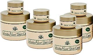 Infinite Aloe Skin Care Cream, Fragrance Free, 8oz. - 4 Jars - ** (Plus 4 Bonus 0.5 oz InfiniteAloe Travel Jars) **