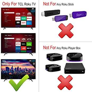 RC280 Replacement Remote Applicable for TCL Roku TV with Netflix Sling Hulu Vudu Key 55UP120 32S4610R 50FS3750 32FS37...