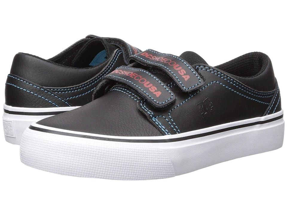 DC Kids Trase V SE (Little Kid/Big Kid) (Black/Red/Blue) Boys Shoes