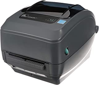 Zebra GX420t Thermal Transfer Desktop Printer Print Width of 4 in USB Serial and Ethernet Port Connectivity Includes Peeler GX42-102411-000