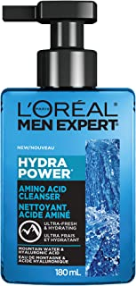 L'Oreal Men Expert Daily Face Cleanser with Amino Acid and Hyaluronic Acid; fresh and hydrating; Hydra Power
