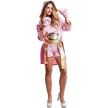 My Other Me Me-203346 Disfraz de boxeadora para mujer, color rosa ...