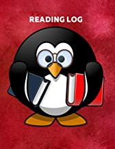 Reading Log: Penguim Kids Reading Notebook with Wish List, Log, & Book Summary Sheets |Gifts for Book Lovers