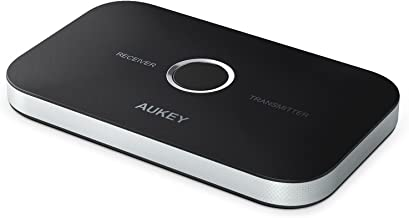 AUKEY Bluetooth Transmitter & Receiver, Wireless Stereo Audio Adapter Car Kit for Headphones, Speakers, TVs, Computers, MP3 Players, Phones, and More