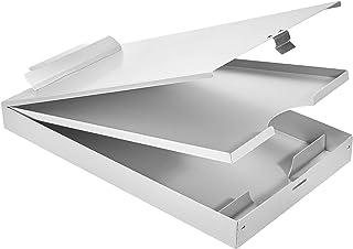 AmazonBasics Portapapeles de almacenamiento de aluminio, 41 x 23 cm, 3 niveles, clip estándar