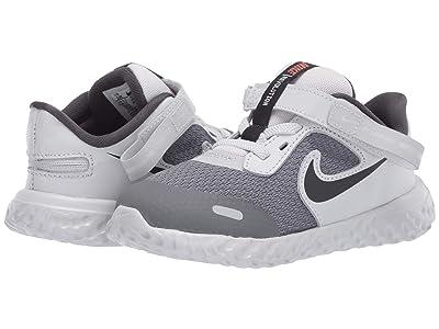 Nike Kids Flyease Revolution 5 (Infant/Toddler) (Light Smoke Grey/Dark Smoke Grey/Photon Dust) Kid