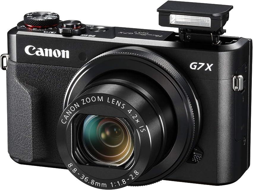 Canon Powershot G7X Mark II - Cámara Digital (32gb procesamiento DIGIC Sensor CMOS de 20.1 megapíxeles vídeos 1080p) Negro Kit con Tripod
