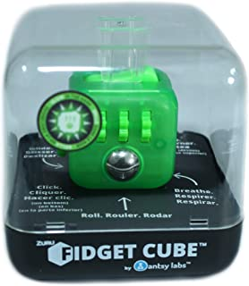 Zuru Fidget Cube by Antsy Labs - Custom Series (Transparent Neon Green) Glow in The Dark Fidget Cube