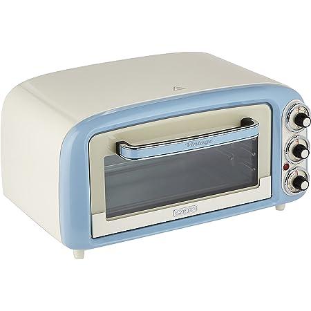 Ariete Vintage 979 Four Électrique design 18 L, Convient pour Pizza de 30 Cm, 1380 W, 3 Positions de Cuisson, Minuterie 60', en Acier Inoxydable, Bleu Pastel